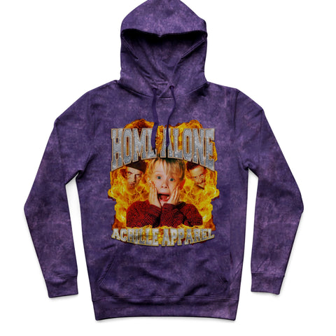 Purple Cloud Home Alone Vintage Hoodie