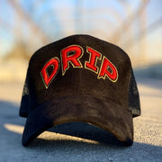 Black & Red Drip Hat