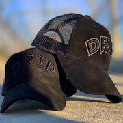 All Black Drip Hat