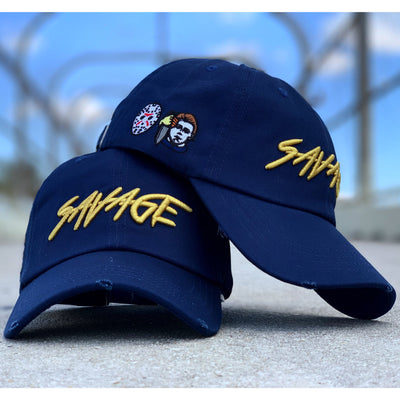Navy Blue & Gold  Savage Hat