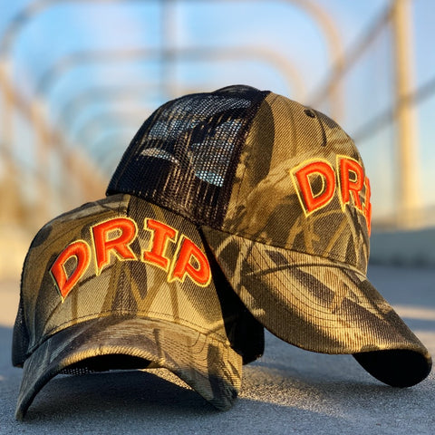 Forest Camo Drip Hat