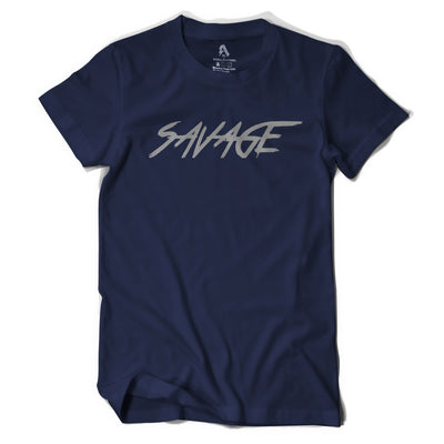 Navy Blue Savage T- Shirt.