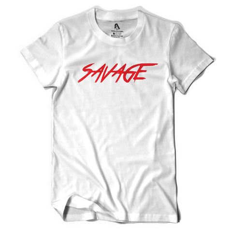 White and Red Savage T-Shirt