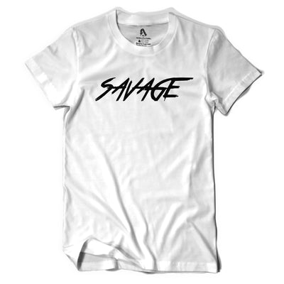 White and Black Savage T-Shirt