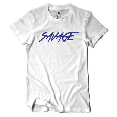 White & Royal Blue Savage T - Shirt