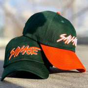 Monster Green & Orange Savage Hat