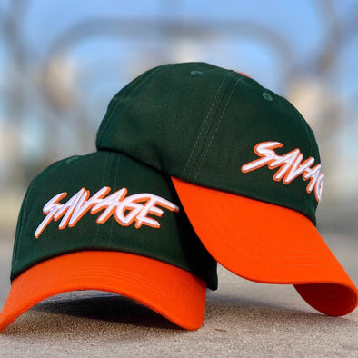 Monster Green & Orange Savage Hat.