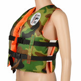 Kids Camouflage Life Jackets Vest Swimwear With Whistle