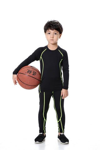 Kid Sport Shirt Long Sleeve Running T- Shirts Compression