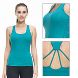 Fitness Tights Yoga Vest Gym Sports Sleeveless Shirts  Tank Top