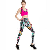 Colorful Tribal Print Leggings Quick Dry