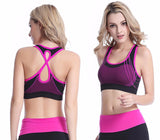 Quick Dry Sports Bra Cross Back Hollow Push Up Padded Crop Tops