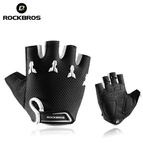 Kids Cycling Gloves Shockproof Breathable Gel Pad Half Finger