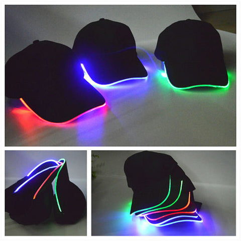 LED Lighted Adjustable Sports Luminous Cap