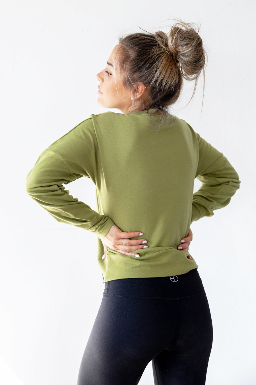 Oh-So Olive Crop Sweater
