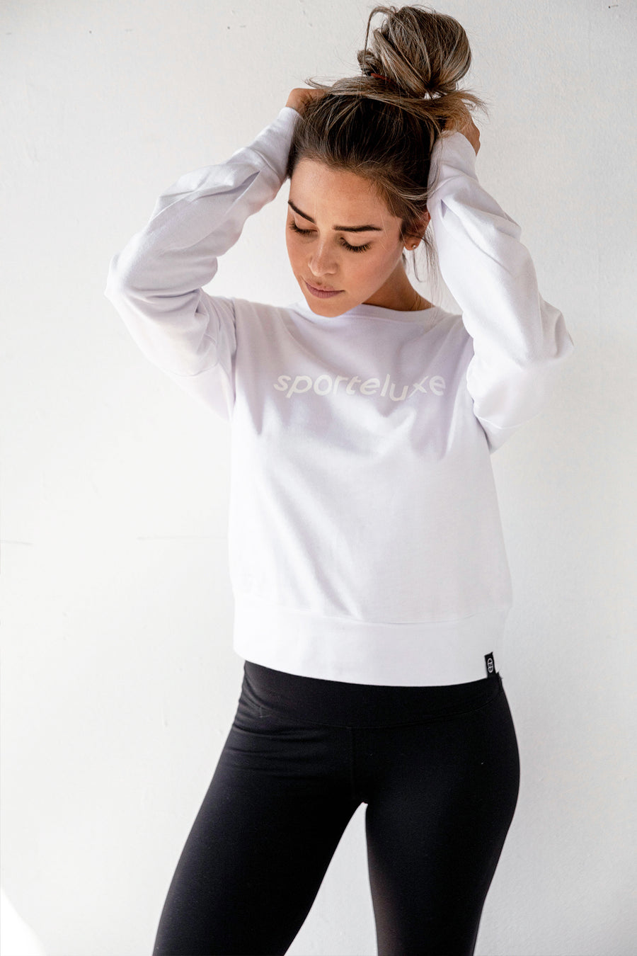 White on White Crop Sweater