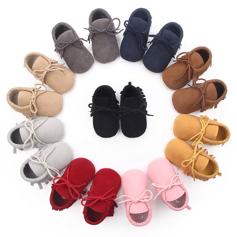 Moccasin Leather Crib Shoes