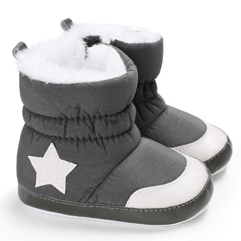 Star Pattern Snow Boots