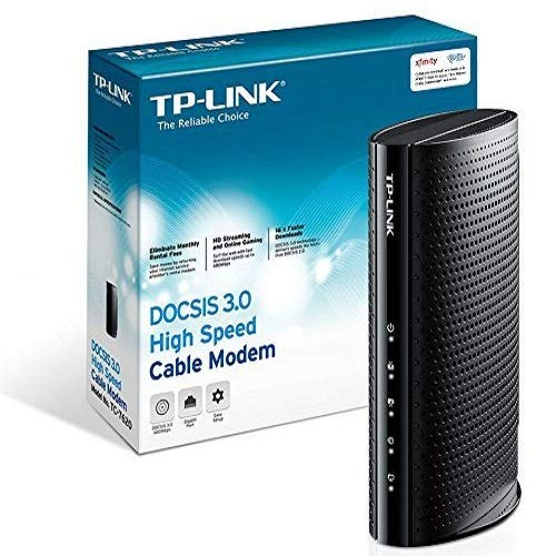 TP-Link DOCSIS 3.0 (16x4) High Speed Cable Modem, Max Download Speeds of 686Mbps, Certified for Comcast XFINITY, Time Warner Cable, Cox Communications, Charter, Spectrum (TC-7620)
