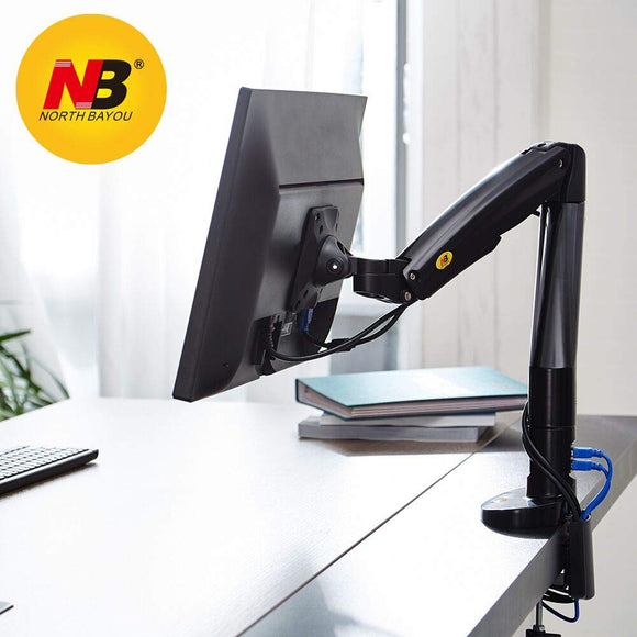 NB North Bayou Monitor Desk Mount Stand Full Motion Swivel Monitor Arm Gas Spring for 22''-35'' Computer Monitor from 6.6 to 19.8lbs
