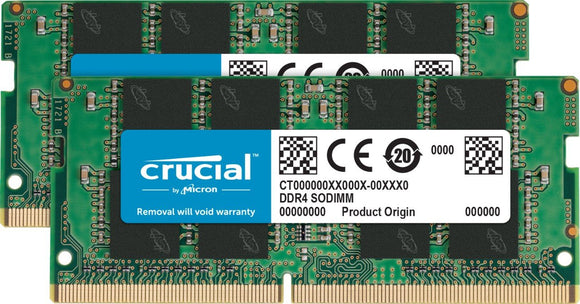 Crucial 8GB Kit (4GBx2) DDR4 2400 MT/s (PC4-19200) SR x16 SODIMM 260-Pin Memory - CT2K4G4SFS624A
