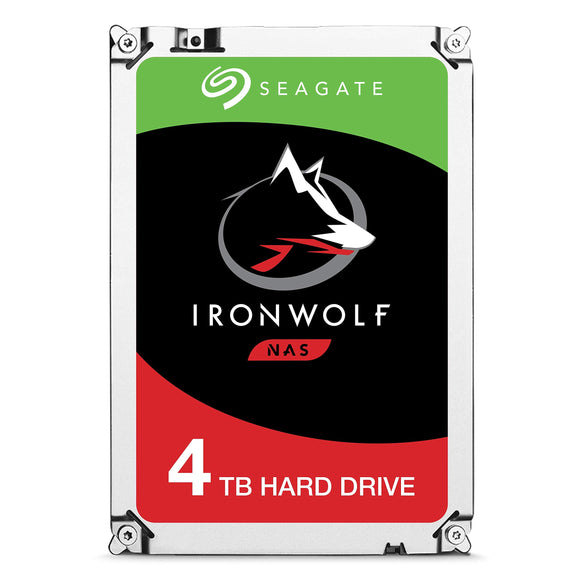 Seagate IronWolf NAS 5900RPM Internal SATA Hard Drive 4TB 6Gb/s 3.5-Inch -   (ST4000VN008)