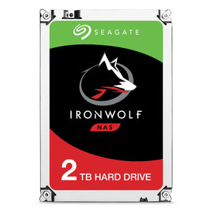 Seagate IronWolf NAS 5900RPM Internal SATA Hard Drive 2TB 6Gb/s 3.5-Inch -   (ST2000VN004)