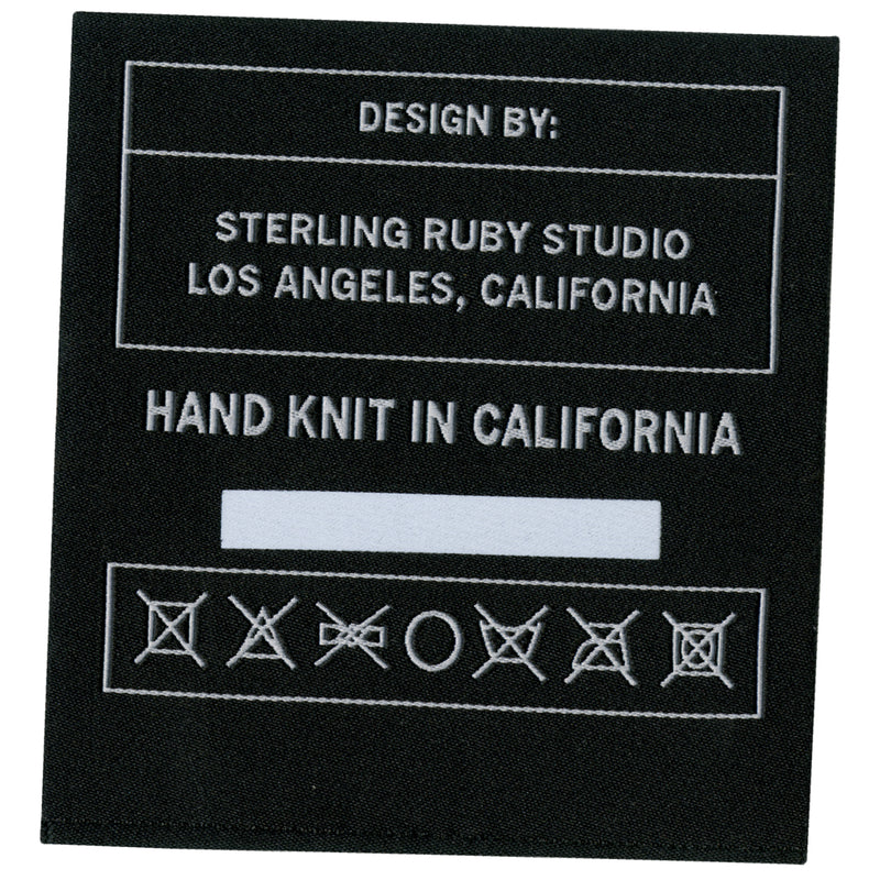 hand knit label
