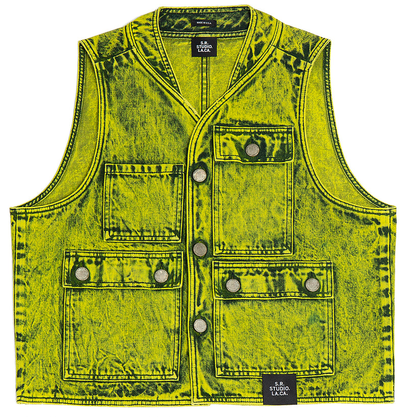 PHOTO VEST WITH MINERAL WASH S.R. STUDIO. LA. CA. BY STERLING RUBY