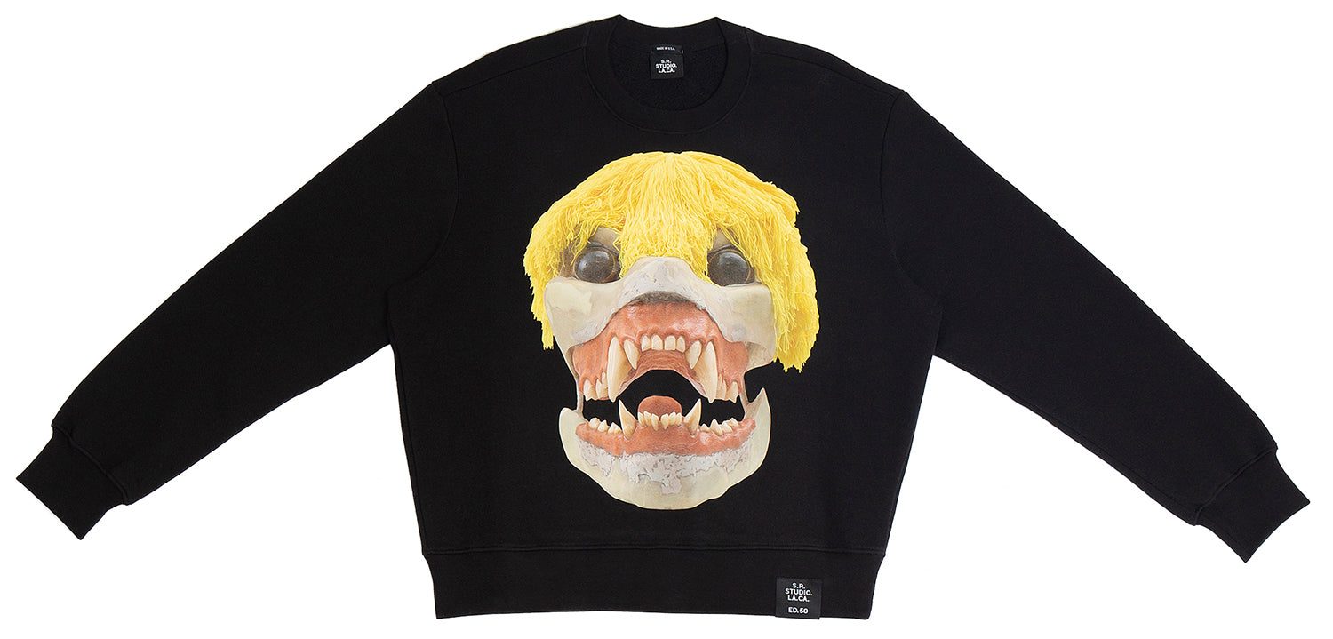 ED. 50 CREWNECK SWEATSHIRT WITH SKULLS S.R. STUDIO. LA. CA. BY STERLING RUBY