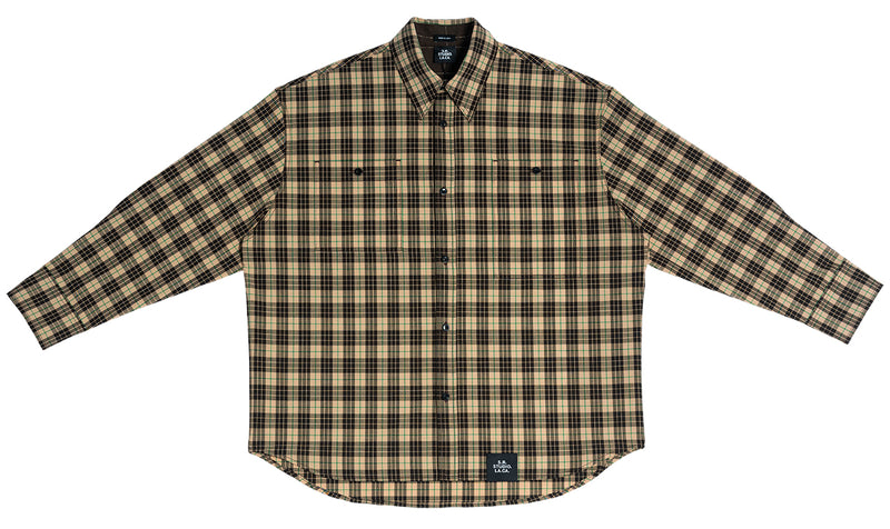 MEN'S PLAID OVERSIZED BUTTON DOWN SHIRT