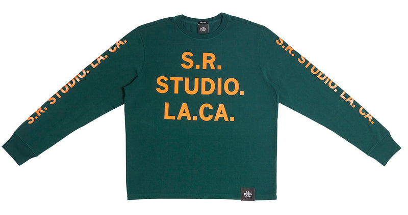 BASIC LONG SLEEVE T-SHIRT WITH S.R.S. LOGO AND VAMPIRE SUNRISE GRAPHIC
