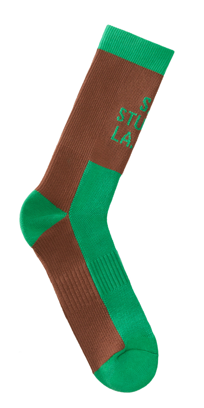 green brown sock