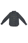 WOMEN'S LONG SLEEVE BUTTON DOWN SHIRT WITH CONTRAST STITCHING