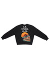 ED. 50 CREWNECK SWEATSHIRT WITH ORANGE HAIRED GREEN SKULL