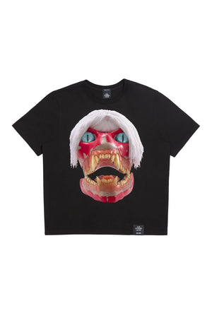 ED. 50 BASIC T-SHIRT WITH WHITE HAIRED RED SKULL