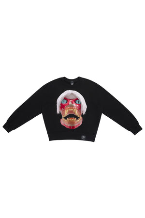 ED. 50 CREWNECK SWEATSHIRT WITH WHITE HAIRED RED SKULL
