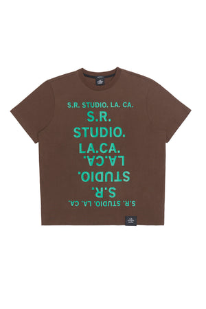 BASIC T-SHIRT WITH S.R.S. DOUBLE LOGO
