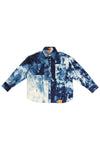 MEN'S HAND-BLEACHED INDIGO SOTO OVERSIZED LONG SLEEVE BUTTON DOWN SHIRT