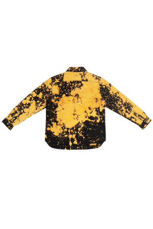 HAND-BLEACHED SEPIA SOTO LONG SLEEVE BUTTON DOWN SHIRT