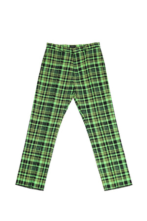 MEN'S OPEN-WEAVE CHECK SUIT PANT