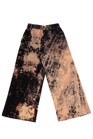 HAND-BLEACHED SEPIA SOTO WIDE LEG JOGGING PANT S.R. STUDIO. LA. CA. BY STERLING RUBY