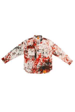 HAND-DYED SOTO LONG SLEEVE BUTTON DOWN SHIRT