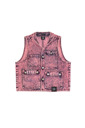 PHOTO VEST WITH MINERAL WASH