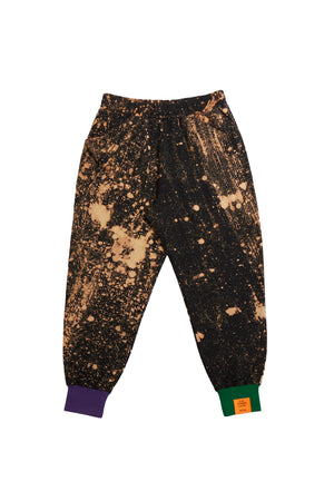HAND-BLEACHED SOTO SWEATPANTS WITH CONTRAST RIB