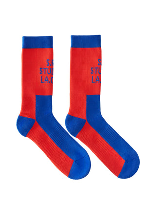 SHORT SOCK WITH CONTRAST S.R.S. LOGO