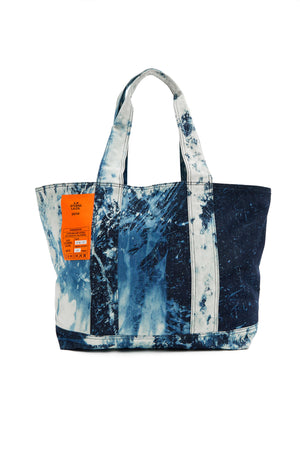 HAND-BLEACHED INDIGO SOTO LAUNDRY BAG S.R. STUDIO. LA. CA. BY STERLING RUBY