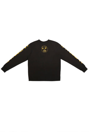 BASIC LONG SLEEVE T-SHIRT WITH S.R.S. LOGO/VAMPIRE SUNRISE GRAPHIC