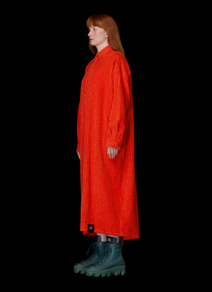 LONG SLEEVE CORDUROY SHIRTDRESS WITH POCKETS - S.R. STUDIO. LA. CA. STERLING RUBY CLOTHING