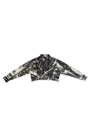 HAND-BLEACHED CROPPED SOTO JEAN JACKET